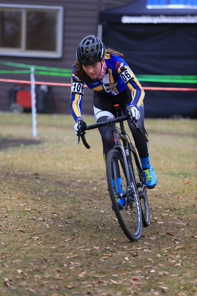 Abbey McGill - extremely competitive in the Open Women's field and  7th at U23 Canadian CX Nationals.
