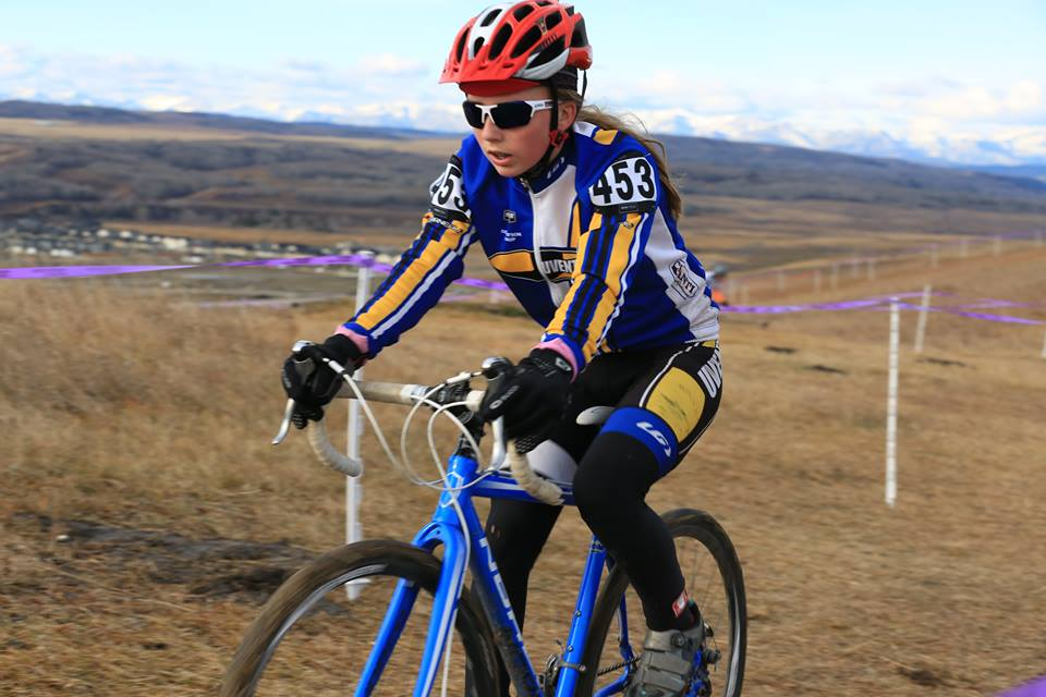 Annie Scott is U15, but raced nearly all cyclocross events this season with Sport Women.