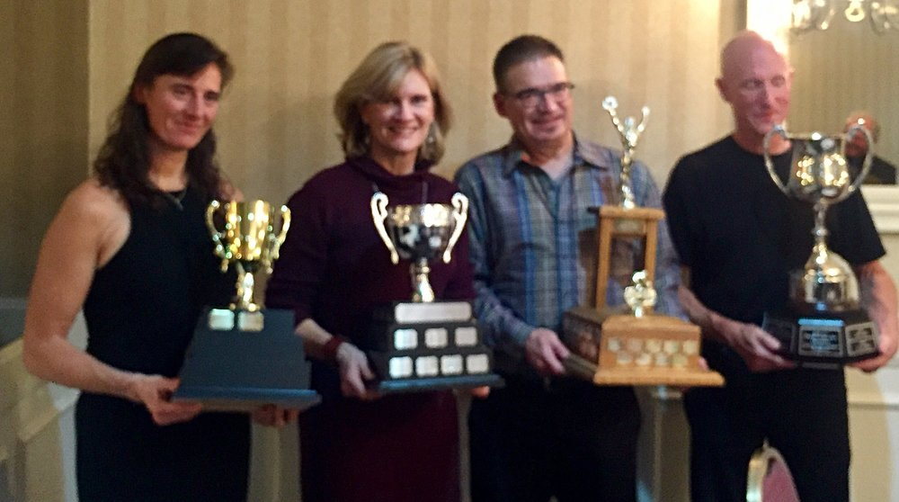 Elke Strohschein, Gail Wozny, Lorne Dmitruk, Bruce Copeland collect honours at the EMCC Awards Dinner!