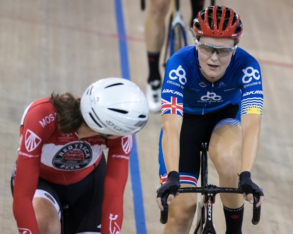 A great omnium points race with overall winner Steph Roorda -