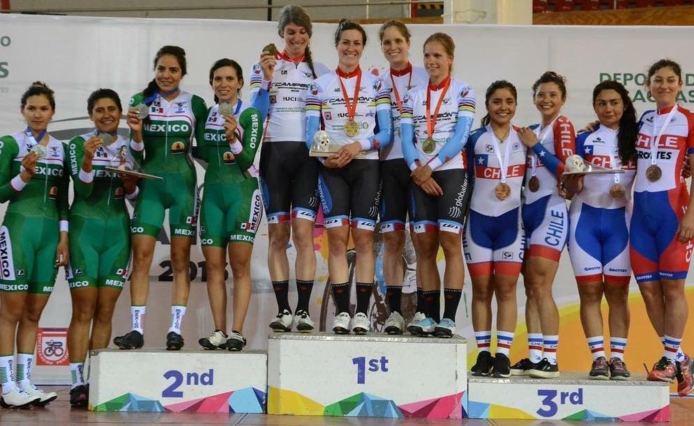 Jamie Gilgen, Kinley Gibson,Ariane Bonhomme,Jasmin Glaesser- 2016 Team Pursuit Pan American Champions