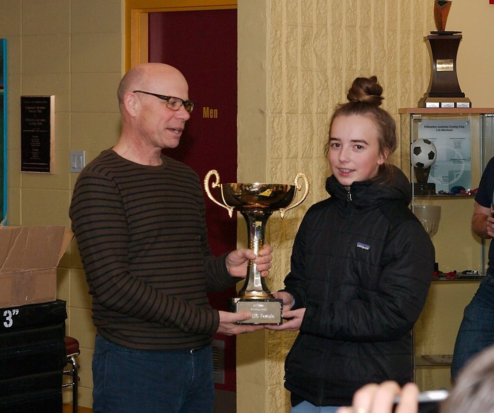 Top U15 Female  - presented by Bill Burtnik to  Annie Wyminga Scott
