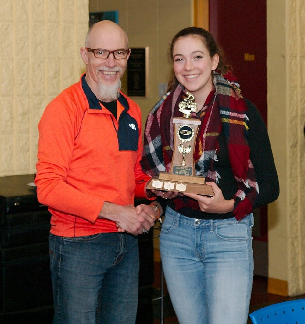 Top U17 Female - presented by Ken Germaine to Abbey McGill