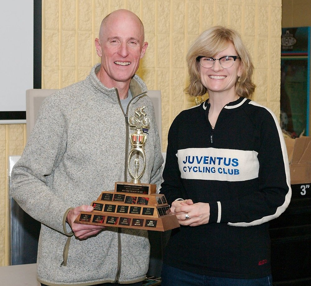 Top Individual Time Trialist  Award - presented by Gail Wozny to Bruce Copeland . . . again!