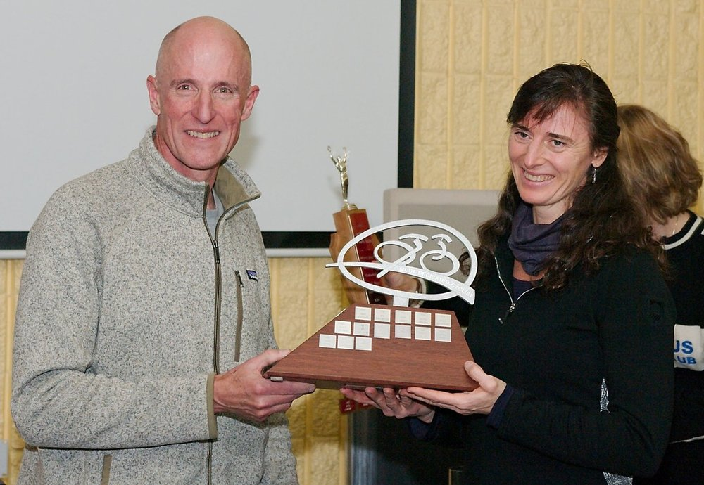 Most Dedicated - presented by Bruce Copeland to Elke Strohschein