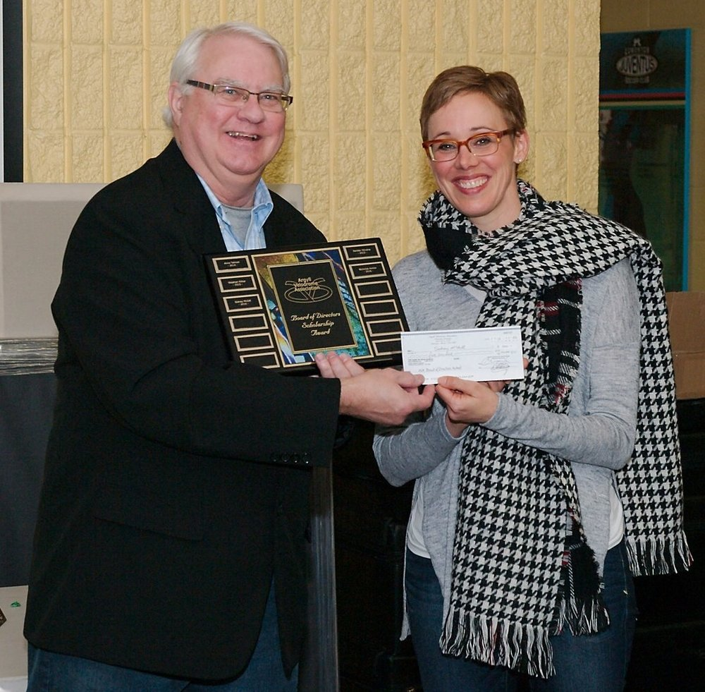 The Argyll Velodrome Association's Board of Director's Scholarship Fund  - presented by Erik Oddleifson to Nik McGill on behalf of  Sidney McGill.