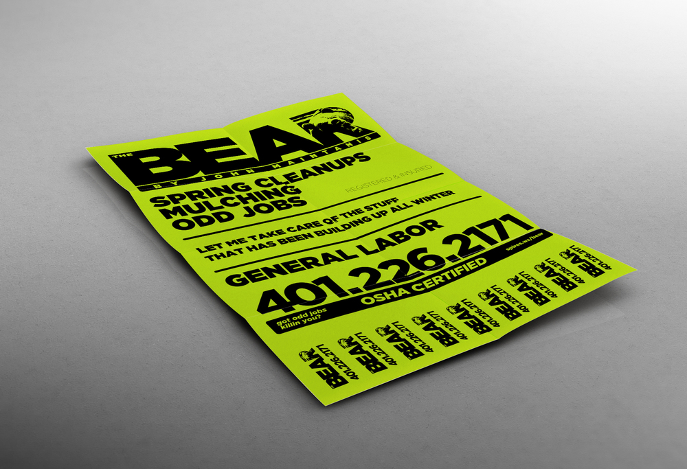 Flyer for The BEAR