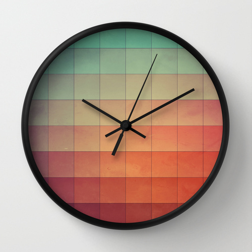 design cyvyryng on clock sold through Society6