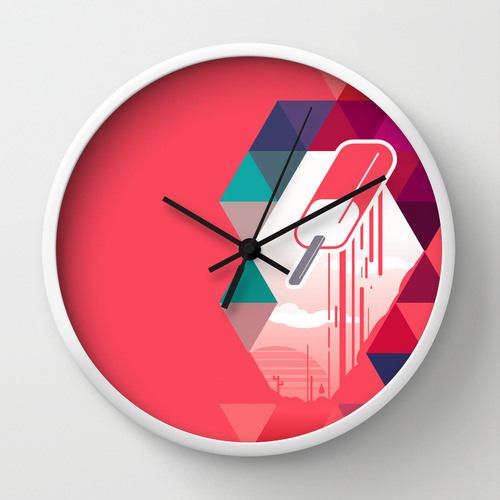 Watermelon Popsicle Clock