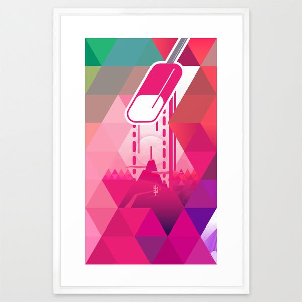 Raspberry Popsicle Framed Print