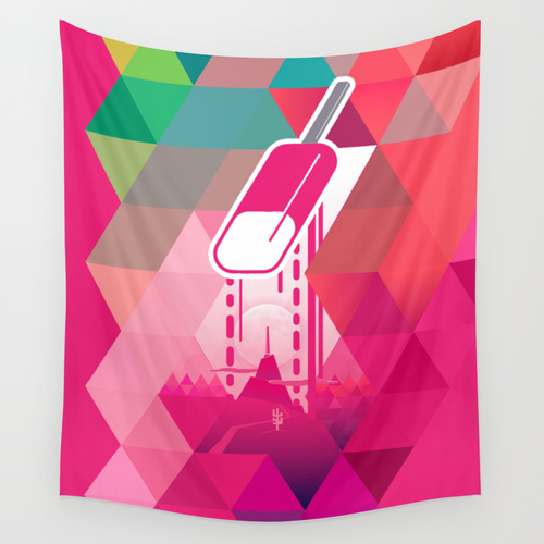Raspberry Popsicle Tapestry