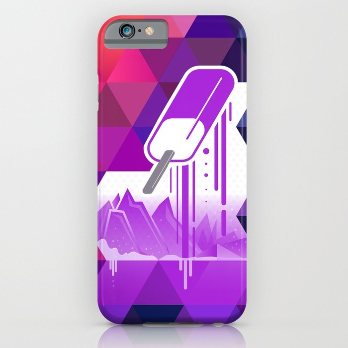 Grape Popsicle iPhone Case
