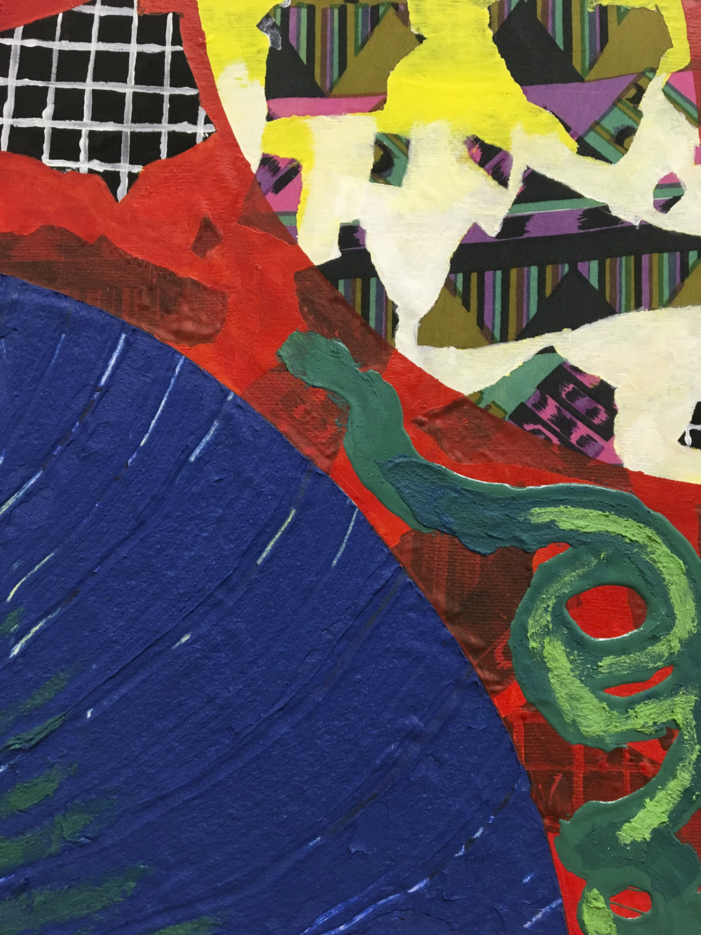 Red Garden & Blue Pool, detail, 2018