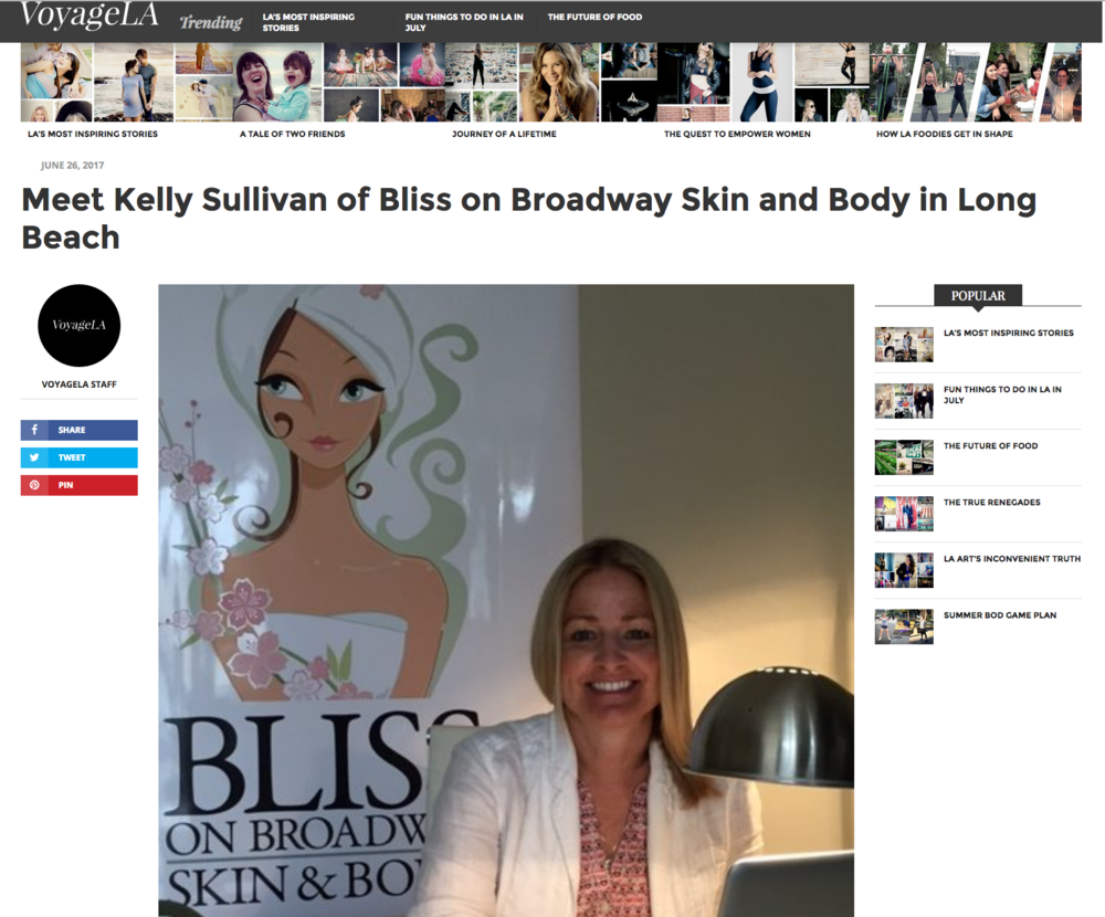 We've discovered this cool digital magazine called Voyage LA. Check out their article about Bliss on Broadway!