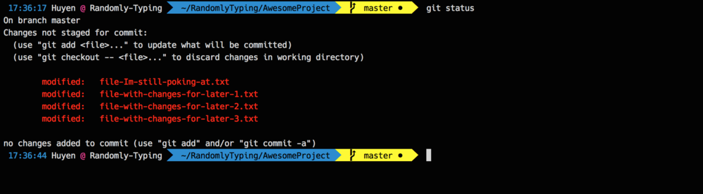 git stash only staged