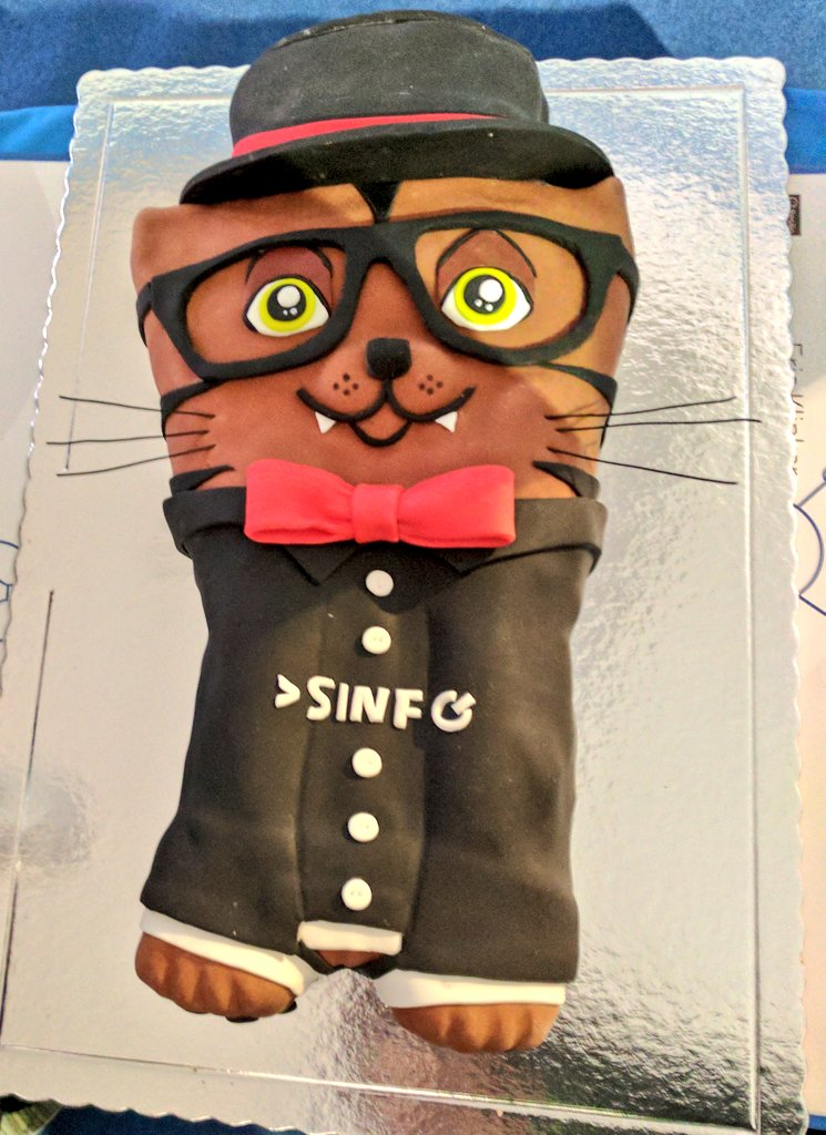 The SINFO mascot, Hacky, in delicious cake form