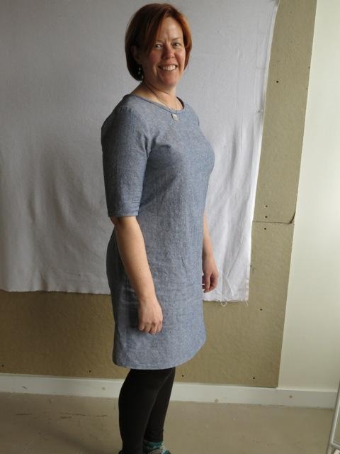 Bonnie in her Laurel dress