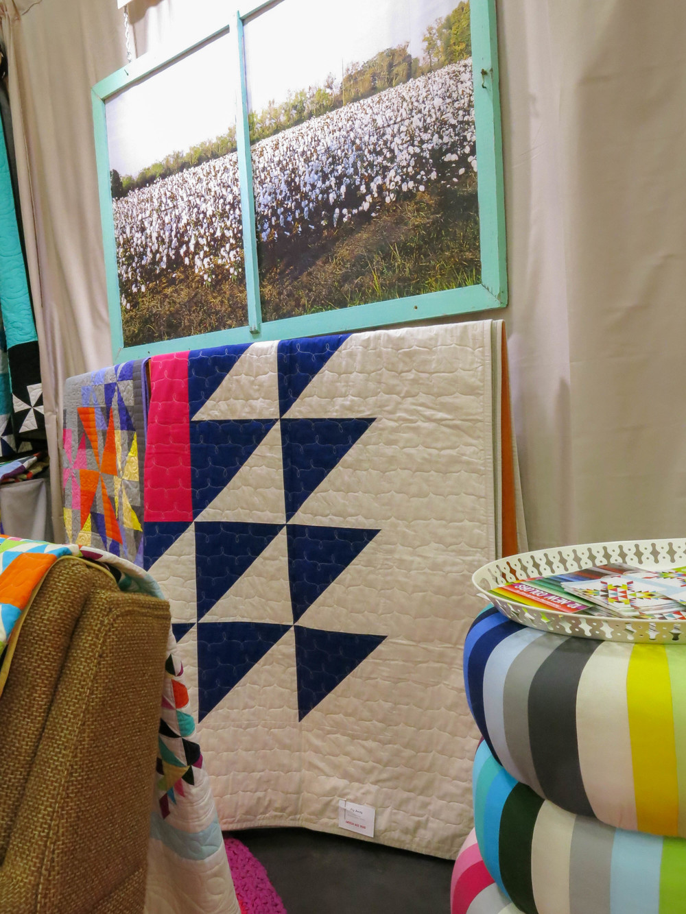 A Heather Jones Quilt in the American Made Booth at Market in Houston, 10/14