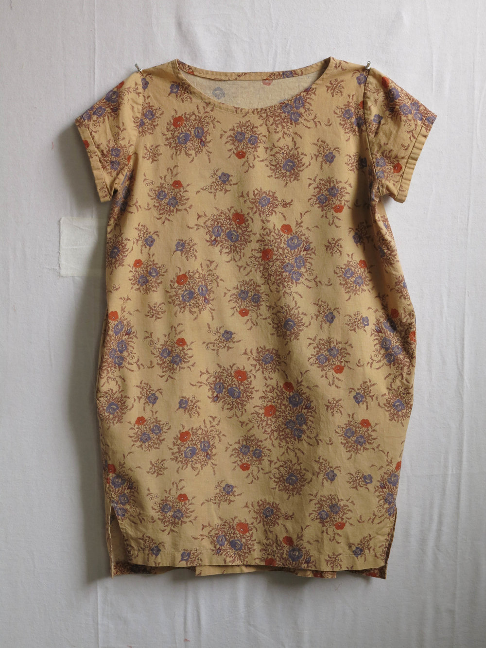 An Inari Tee dress, pattern by Named, in some Japanese cotton/linen blend purchased years ago online.