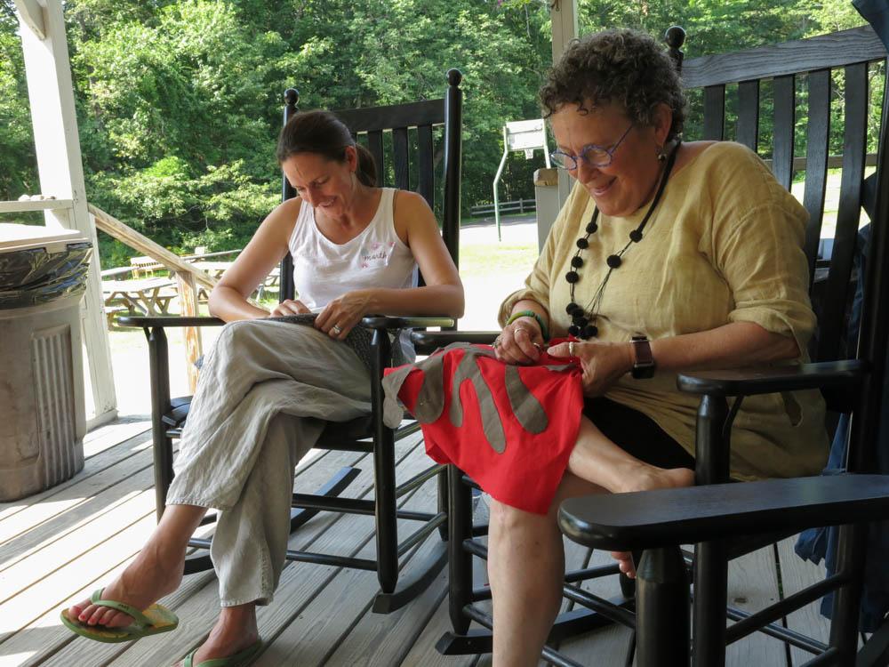 Martha & Ellen on the porch.jpg