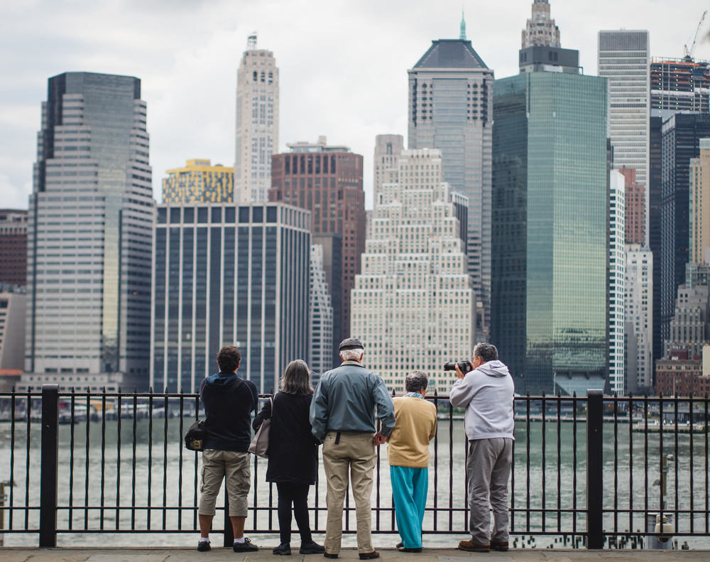 Observing the Manhattan skyline. 90mm.