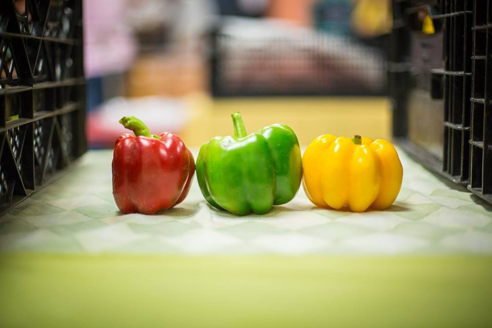 Line up peppers!