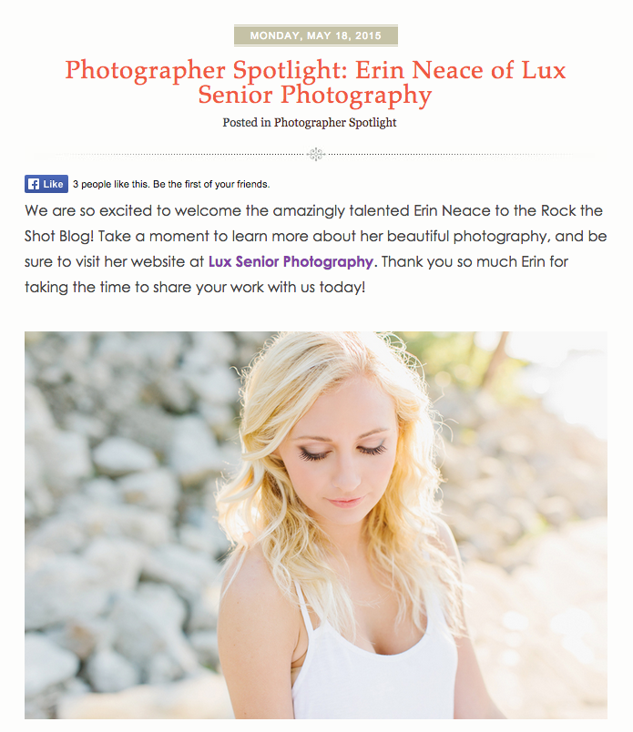 Lux Senior Photography Interview on Rock The Shot