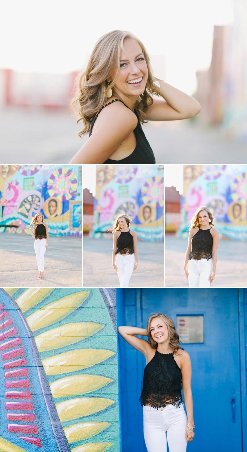 Senior girl portraits in the city