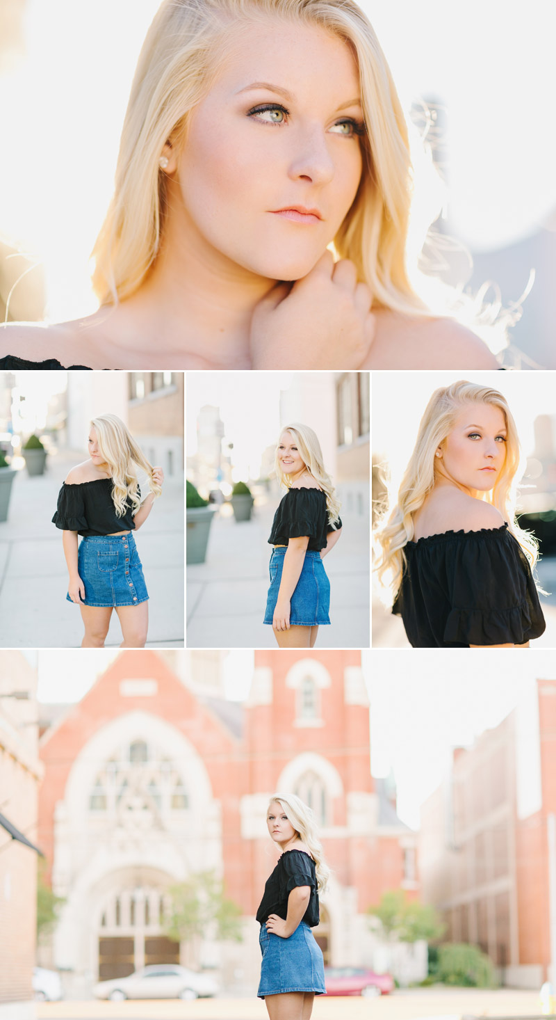Senior girl portraits in the city