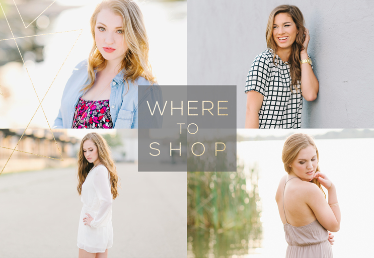 Where should you shop for outfits for your senior session?
