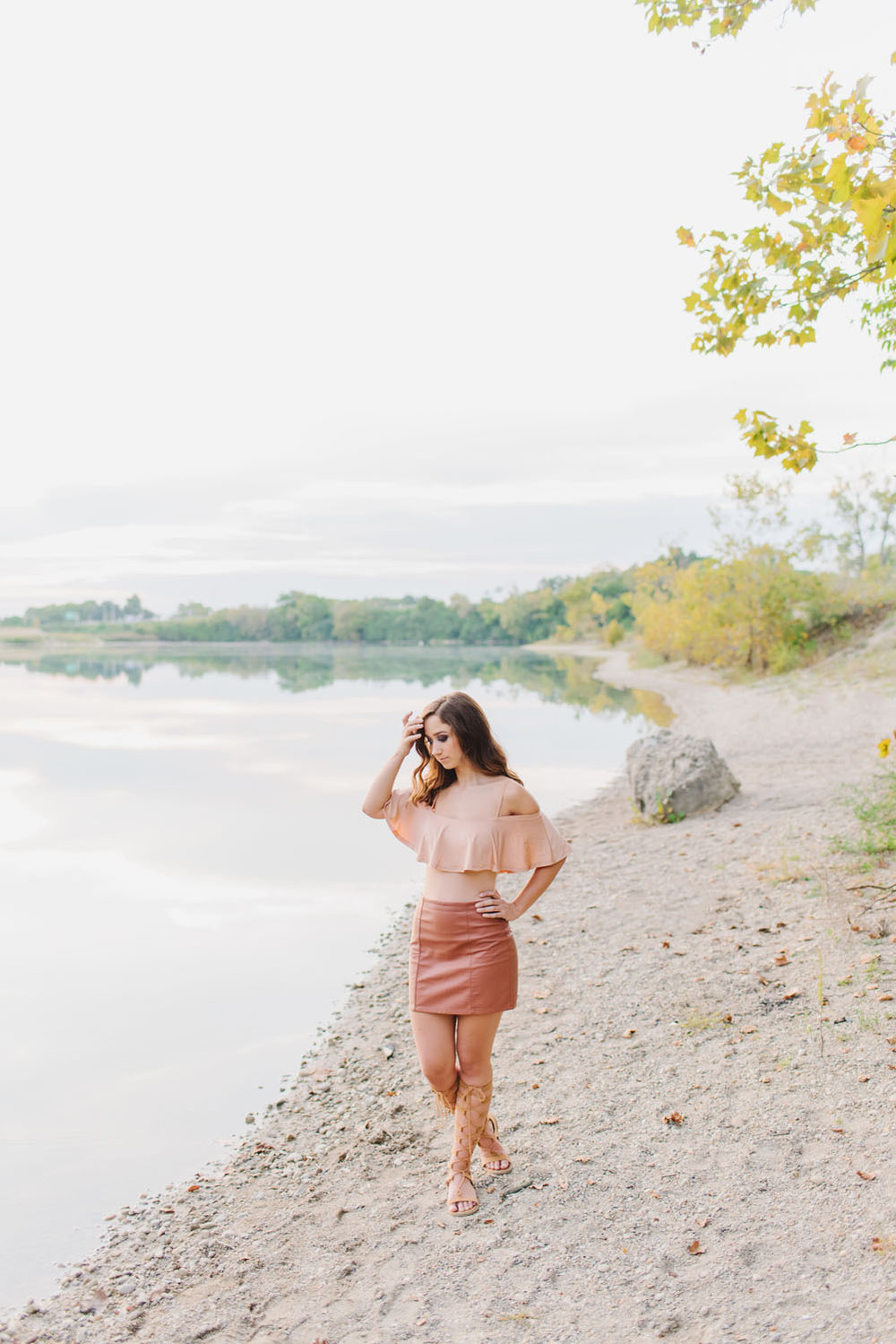 Bright and airy film and digital senior portraits for girls