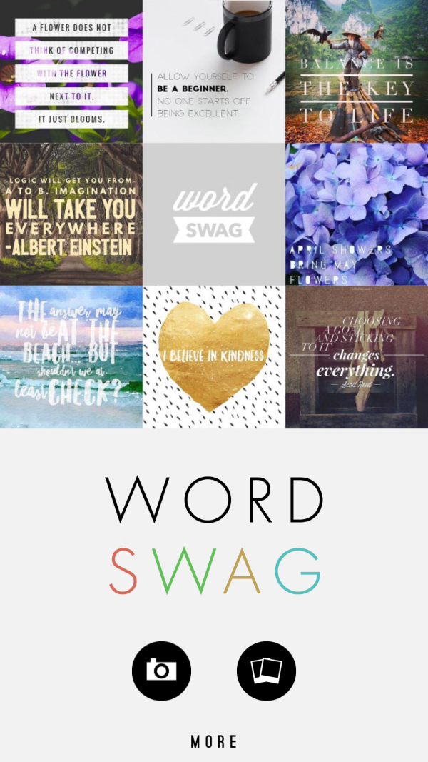 WordSwag opening screen...