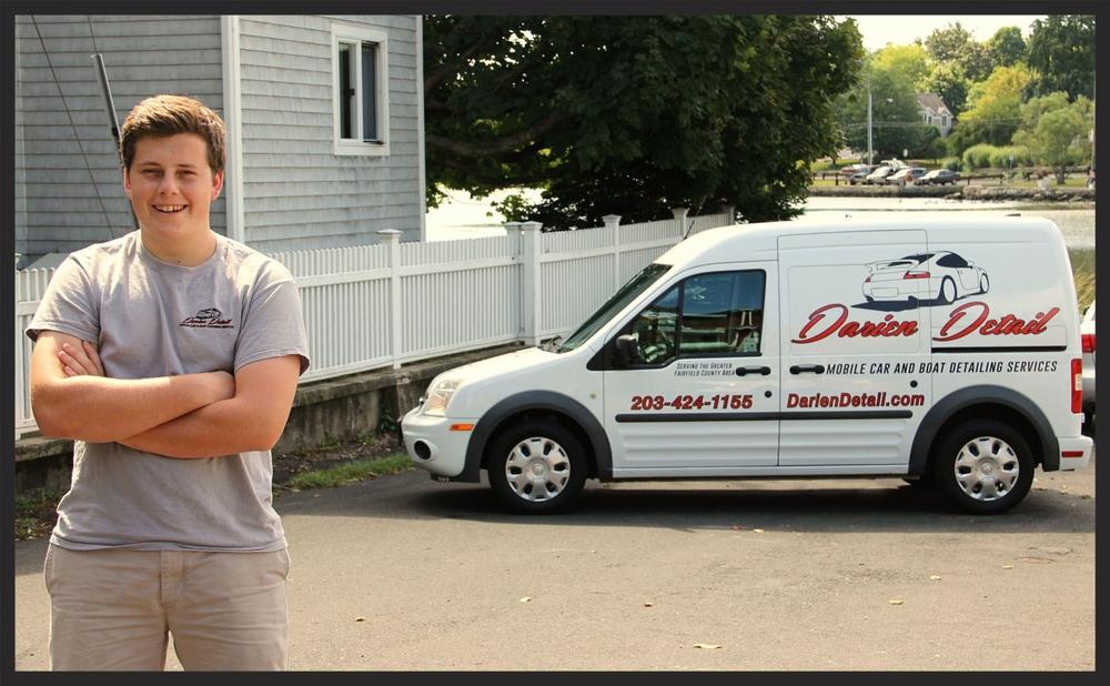 Owner Dirk, and the Darien Detail mobile van.