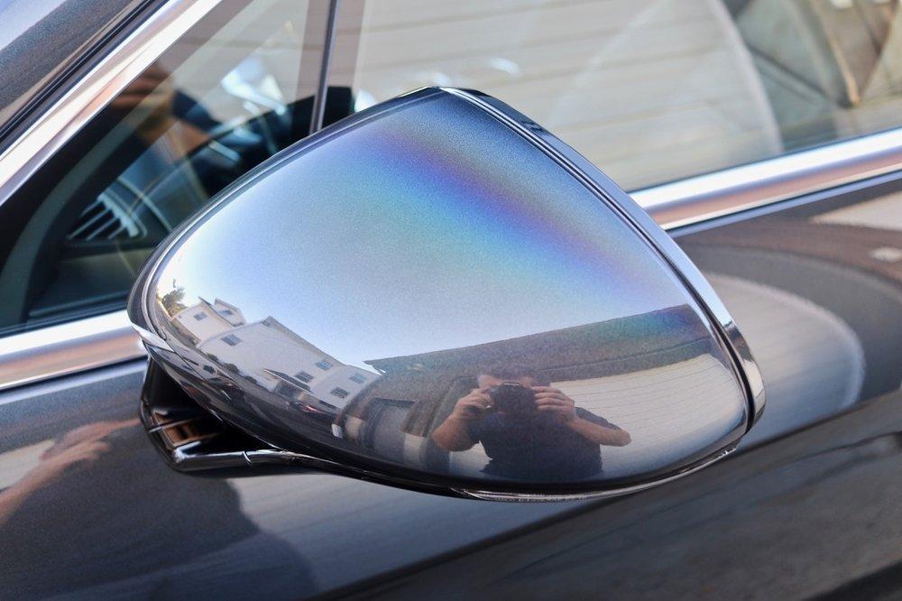 Camera Polarizer causes rainbow effect.