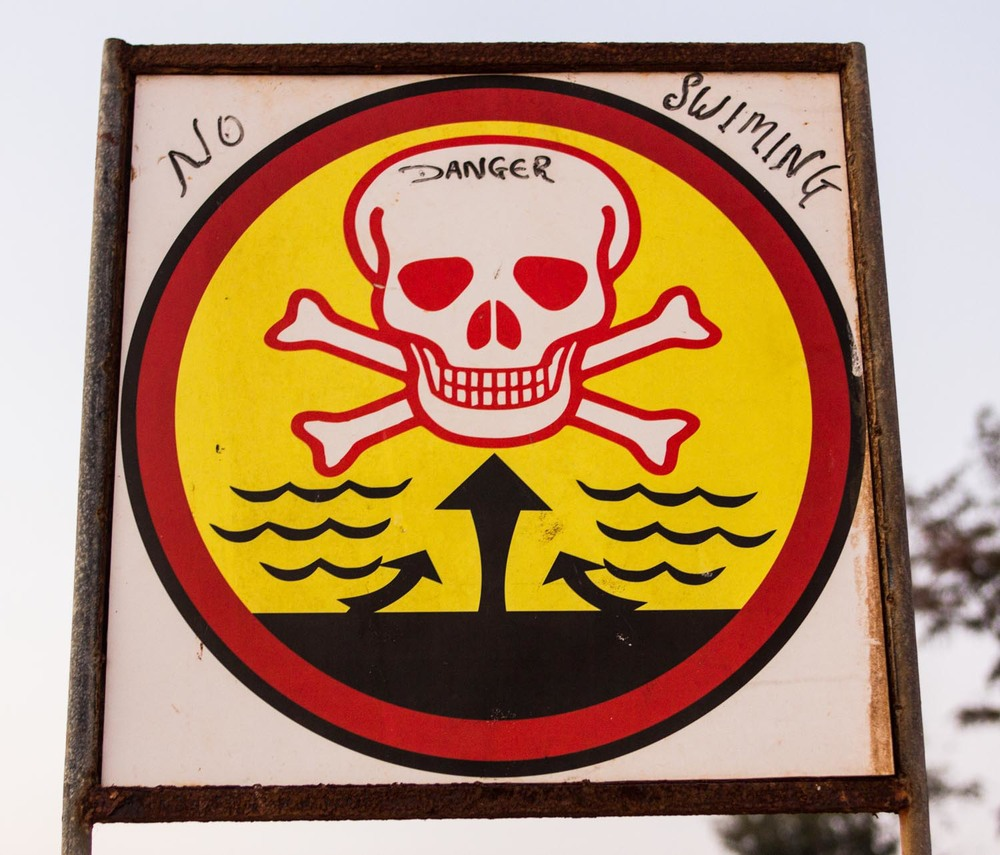 Rip tide warning - Agonda