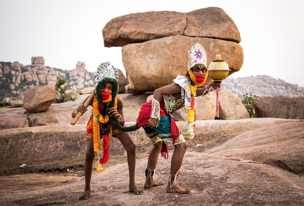 Hanuman dancers