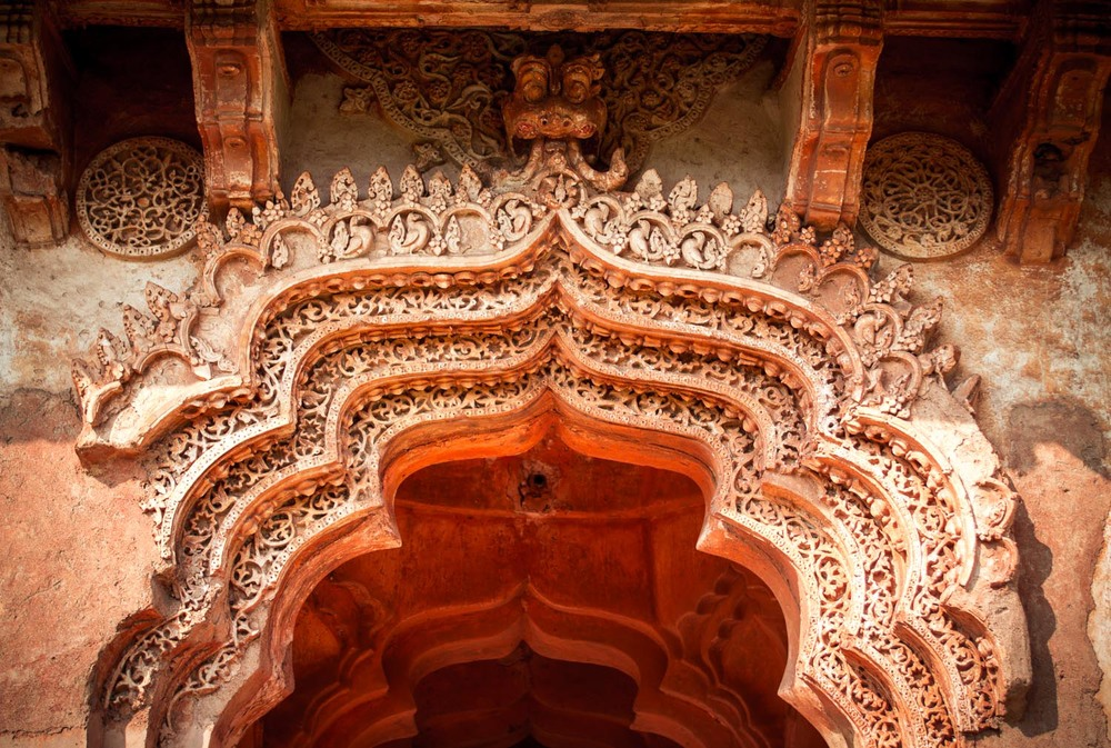 Lotus Mahal detail