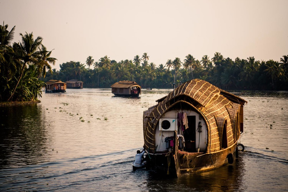Kettuvallam house boats, Alleppey