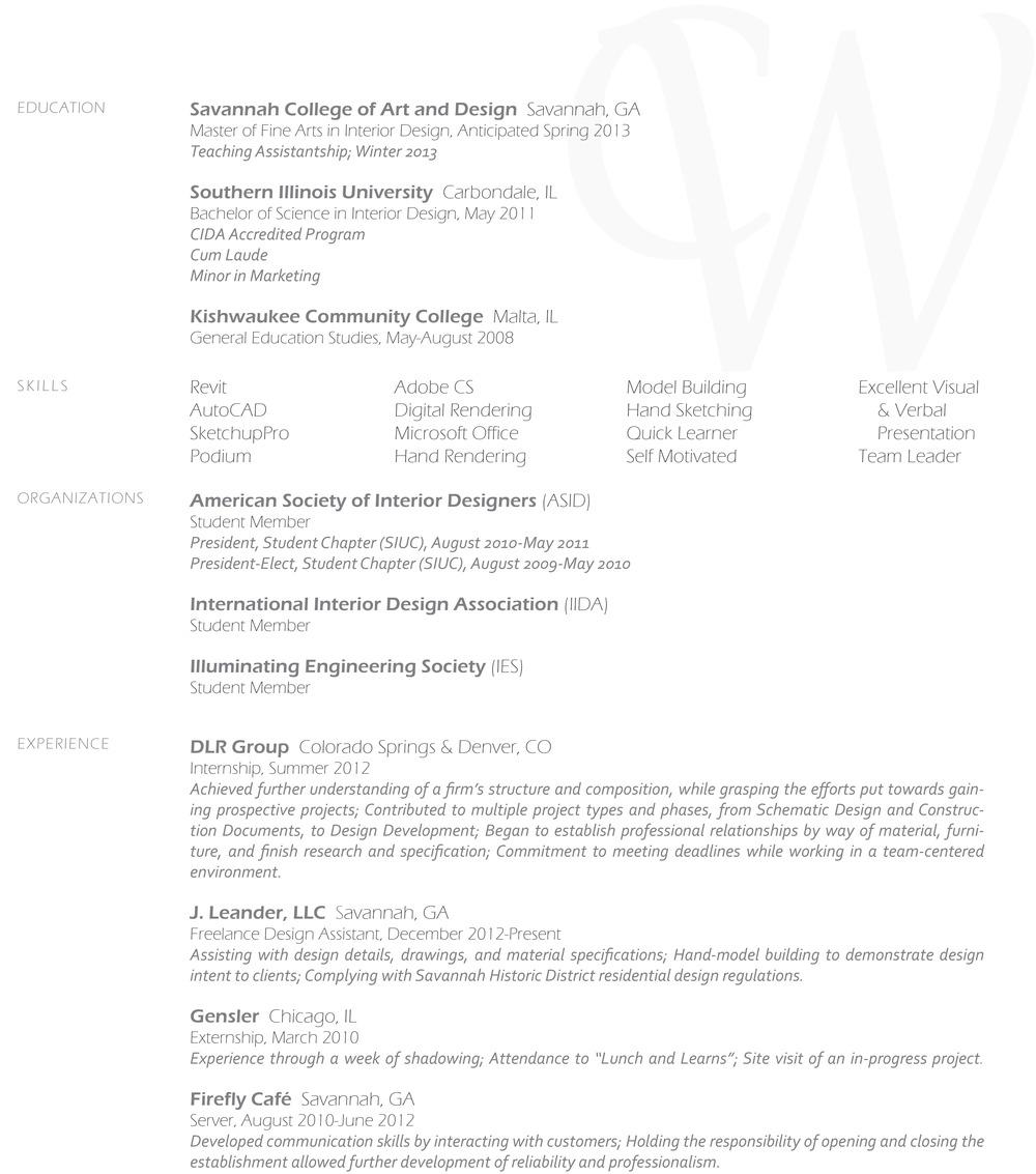 Resume — courtney wilson