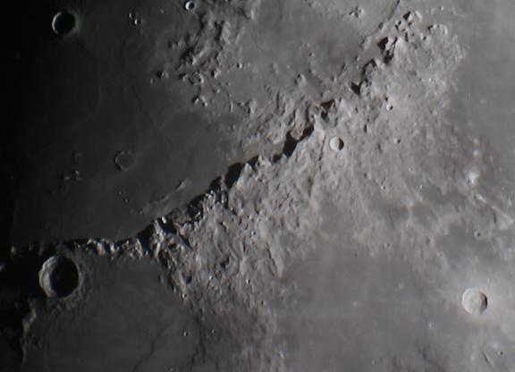 Lunar Apennines Mountain Range