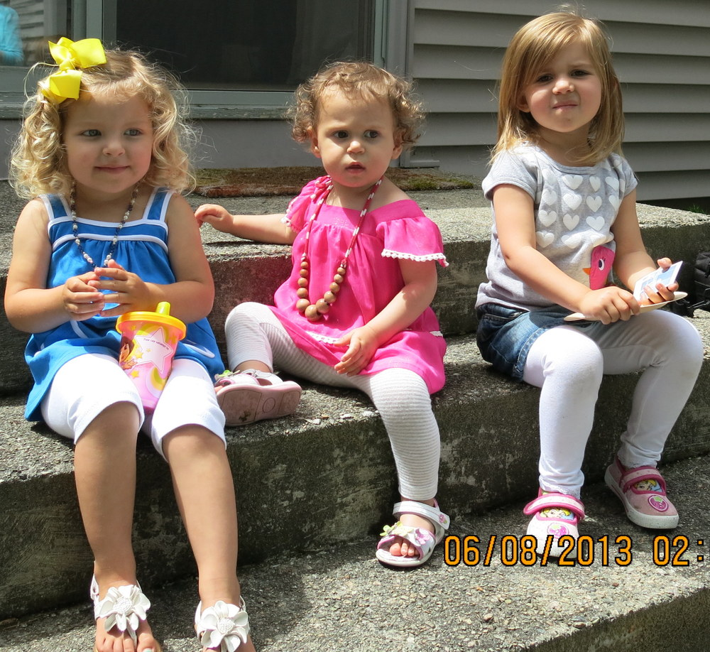 Cutest nuggets ever. Triple AAA. Abby, Alice, and Addy. Ridiculous.