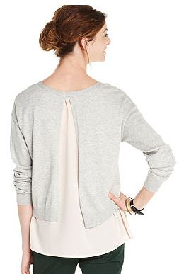 Macys Sweater with chiffon.JPG