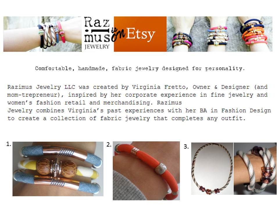 A FEW OF MY FAVORITE THINGS FROM RAZIMUS: 1.  Denim and Rose Gold  for $34, 2.  Magnetic Single Band Stackable Bracelet  for $20, 3.  Neck to Wristwear  on sale for $20 (get it while you can!).