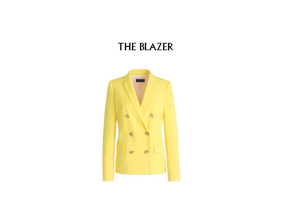 I love this J.Crew blazer - the cut, the double breasted look, the color! Nailed it. Check it here.