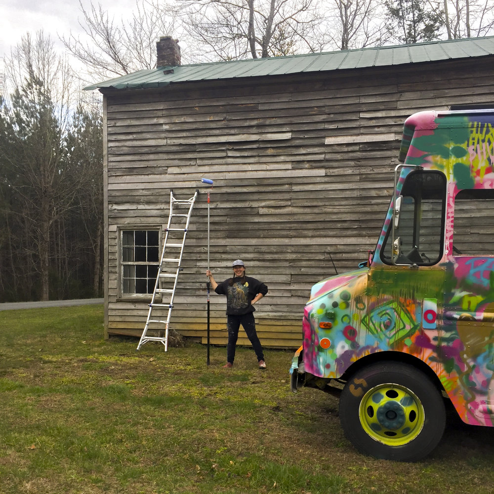 About the Artist - My name is Emily Herr, and I'm a muralist based in Richmond, VA. I work out of a step van that I've converted into a one-of-a-kind Mobile Mural Studio. This July, I'm going to embark with my friend and assistant Sarah Apple in this rolling studio on an epic Girls!Girls!Girls!-themed mural painting tour up the east coast, from Virginia to Vermont.My goal is to create a public mural series that visually celebrates women as complex human beings, in contrast to the ubiquitous public imagery that flattens us into simple objects.The spark for this trip is my awe of the Women's March and my frustration with poor representation of women in media, combined with a love of adventure and travel.