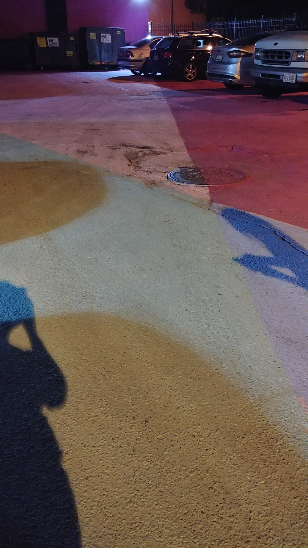they also painted on the ground and it was very pretty in the shadows