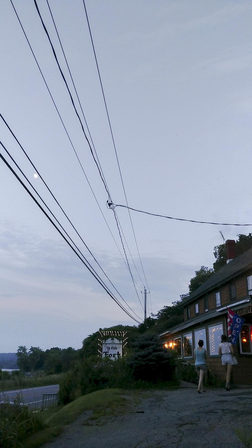 Handoff at moonrise to Glens Falls, full of trepidation.