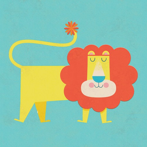 Title: Lion  Illustrator: Steve Mack  All inquiries for images can be sent to:   Steve Mack  Illustrator  steve@stevemack.com    Lori Nowicki   Painted Words Licensing Agent  lori@painted-words.com