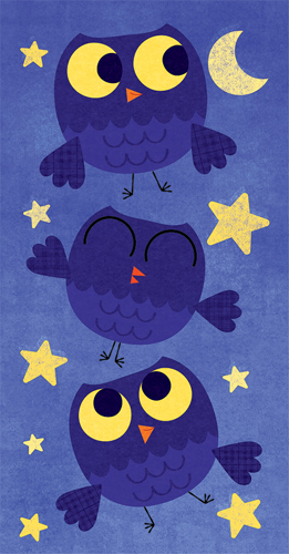 Title: Owls  Illustrator: Steve Mack  All inquiries for images can be sent to:   Steve Mack  Illustrator  steve@stevemack.com    Lori Nowicki   Painted Words Licensing Agent  lori@painted-words.com