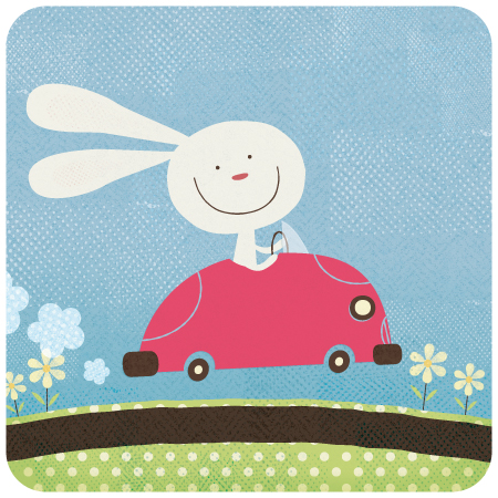 Title: Bunny Car Illustrator: Steve Mack All inquiries for images can be sent to: Steve Mack Illustrator steve@stevemack.com Lori Nowicki Painted Words Licensing Agentlori@painted-words.com